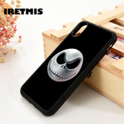 Iretmis 5 5S SE 6 6S Soft TPU Silicone Rubber Phone Case Cover For IPhone 7 8 Plus X Xs Max XR JACK SKELLINGTON SKULL