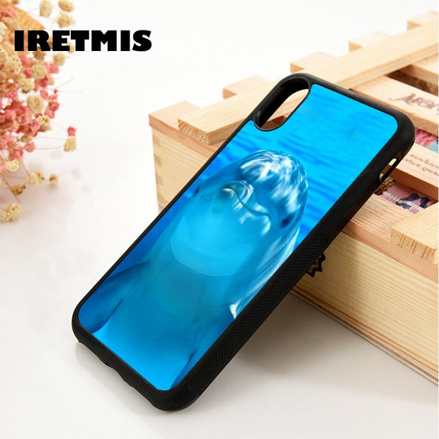 Iretmis 5 5S SE 6 6S Soft TPU Silicone Rubber Phone Case Cover For IPhone 7 8 Plus X Xs Max XR Cute Funny Dolphin In Ocean