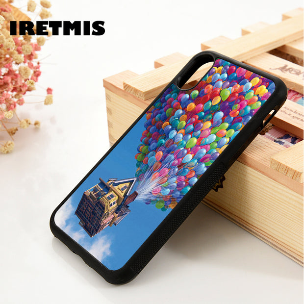 Iretmis 5 5S SE 6 6S Soft TPU Silicone Rubber Phone Case Cover For IPhone 7 8 Plus X Xs Max XR PIXAR UP BALLOON QUOTE