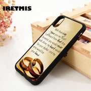 Iretmis 5 5S SE 6 6S Soft TPU Silicone Rubber Phone Case Cover For IPhone 7 8 Plus X Xs Max XR Love Quote Cute Wedding Gift