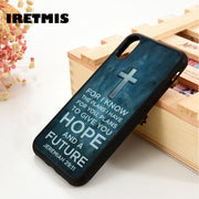 Iretmis 5 5S SE 6 6S Soft TPU Silicone Rubber Phone Case Cover For IPhone 7 8 Plus X Xs Max XR Cross Bible Hope Future