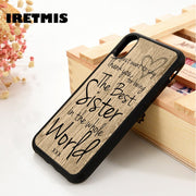 Iretmis 5 5S SE 6 6S Soft TPU Silicone Rubber Phone Case Cover For IPhone 7 8 Plus X Xs Max XR Worlds Best Sister Quote Phrase