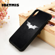 Iretmis 5 5S SE 6 6S Soft TPU Silicone Rubber Phone Case Cover For IPhone 7 8 Plus X Xs Max XR Batman Steel Logo