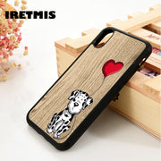 Iretmis 5 5S SE 6 6S Phone Case Cover For IPhone 7 8 Plus X Xs Max XR Dalmatian Puppy Dog Cute Dalmatians Love Heart Funny
