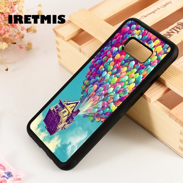 Iretmis S3 S4 S5 Silicon Phone Case Cover For Samsung Galaxy S6 S7 S8 S9 Edge Plus Note 3 4 5 8 9 Pixar's Movie UP Balloon House