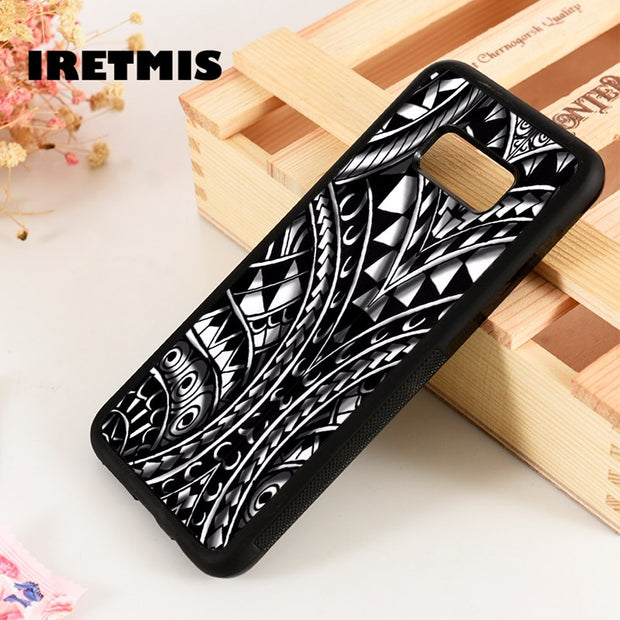 Iretmis S3 S4 S5 Silicon Phone Case Cover For Samsung Galaxy S6 S7 S8 S9 Edge Plus Note 3 4 5 8 9 Maori Polynesian Samoan Tribal