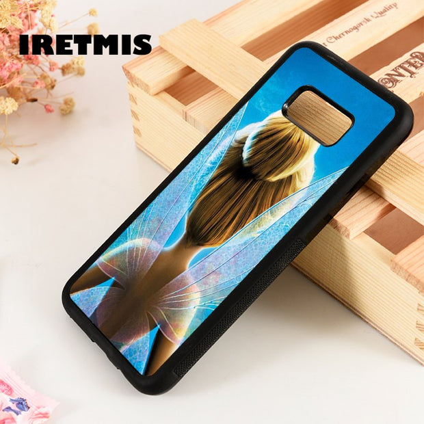 Iretmis S3 S4 S5 Silicone Rubber Phone Case Cover For Samsung Galaxy S6 S7 S8 S9 Edge Plus Note 3 4 5 8 9 Tinker Bell Fairy