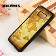 Iretmis S3 S4 S5 Silicone Rubber Phone Case Cover For Samsung Galaxy S6 S7 S8 S9 Edge Plus Note 3 4 5 8 9 Vintage World Map