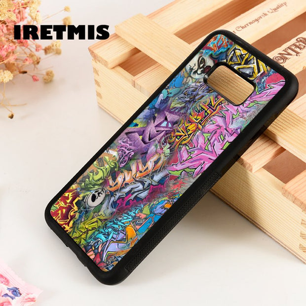 Iretmis S3 S4 S5 Silicone Rubber Phone Case Cover For Samsung Galaxy S6 S7 S8 S9 Edge Plus Note 3 4 5 8 9 Graffiti Wall Collage