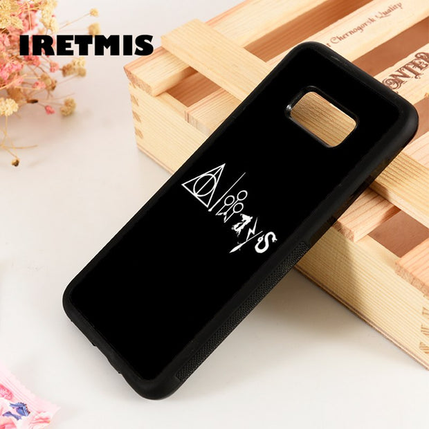 Iretmis S3 S4 S5 Silicone Rubber Phone Case Cover For Samsung Galaxy S6 S7 S8 S9 Edge Plus Note 3 4 5 8 9 Always Deathly Hallows