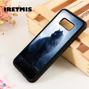 Iretmis S3 S4 S5 Silicone Rubber Phone Case Cover For Samsung Galaxy S6 S7 S8 S9 Edge Plus Note 3 4 5 8 9 Black Cat Moon