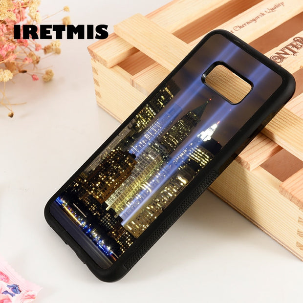 Iretmis S3 S4 S5 Silicone Phone Case For Samsung Galaxy S6 S7 S8 S9 Edge Plus Note 3 4 5 8 9 New York City Skyline Sky Lights