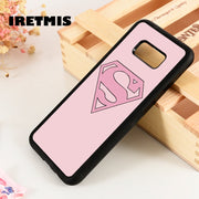Iretmis S3 S4 S5 Silicone Phone Case For Samsung Galaxy S6 S7 S8 S9 Edge Plus Note 3 4 5 8 9 Girls Suparman Symbol Quirky Female