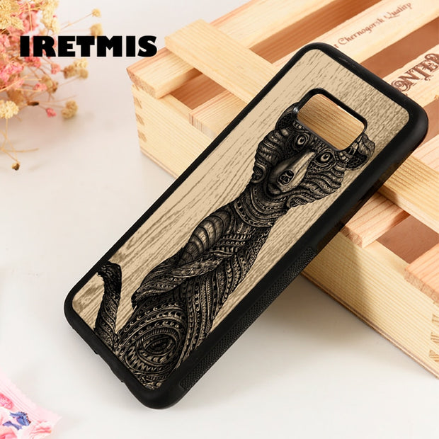 Iretmis S3 S4 S5 Phone Case Cover For Samsung Galaxy S6 S7 S8 S9 Edge Plus Note 3 4 5 8 9 Meerkat Cute Animal Ornate Pattern