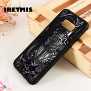 Iretmis S3 S4 S5 Phone Case Cover For Samsung Galaxy S6 S7 S8 S9 Edge Plus Note 3 4 5 8 9 Knight Medieval Helmet Cross Tattoo