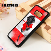 Iretmis S3 S4 S5 Phone Case Cover For Samsung S6 S7 S8 S9 Edge Plus Note 3 4 5 8 9 Canadian Flag Rose Canada Flower Maple Leaf