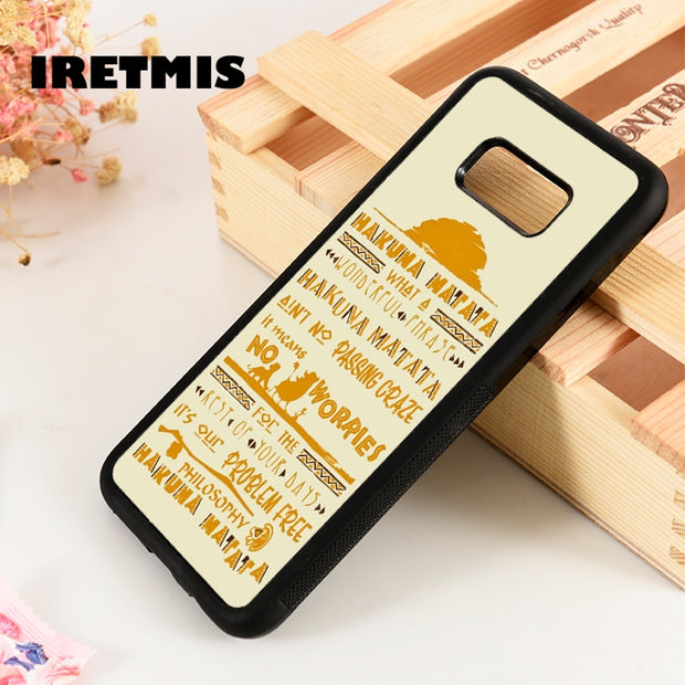 Iretmis S3 S4 S5 Phone Case For Samsung Galaxy S6 S7 S8 S9 Edge Plus Note 3 4 5 8 9 The Lion King Hakuna Matata Song Lyrics