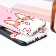 JIBAN NEW Lovely 3D Pet Dog Toys Phone Case For Iphone 7 7plus Cartoon Soft Silicon Phone Back Cover For Iphone 6s 6plus 6S Plus