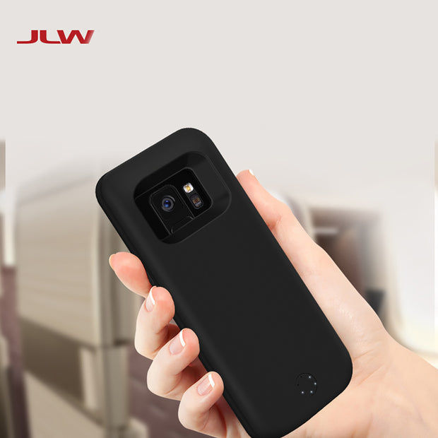 JLW 6000mAh Battery Charger Case For Samsung Galaxy S9 Plus External Backup Battery Clip Rechargeable Phone Case For Galaxy S9+