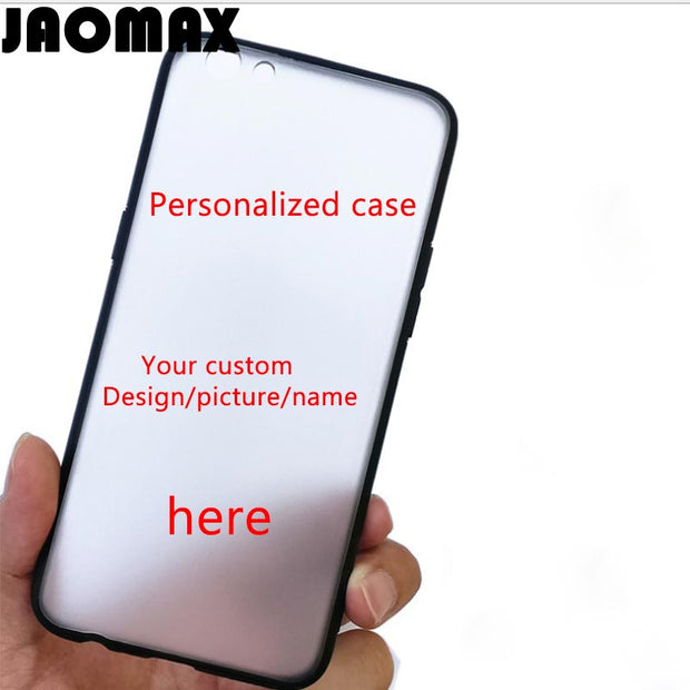 Jaomax Personalized DIY Name Custom Design Print Phone Case Cover For IPhone XS MAX XR X 8 7 6 6S 5 SE PLUS Soft Silicone TPU