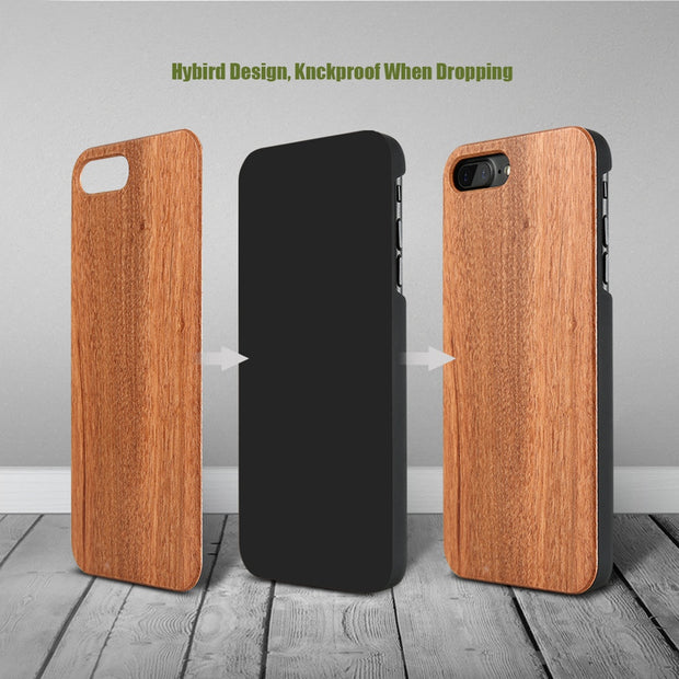 KISSCASE Natural Wood Case For Galaxy S7 Edge S6 S6 Edge S9 Vintage Bamboo Wooden Cover For Samsung Galaxy S8 S9 Plus S7 S7 Edge