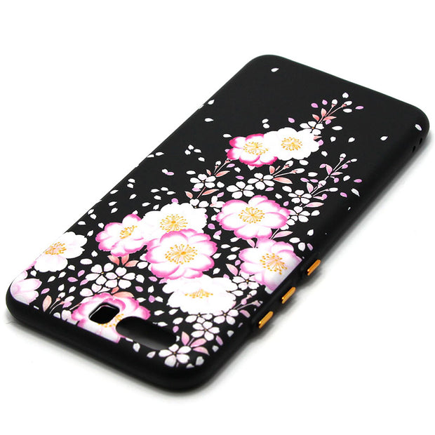 Karribeca 3D Relief Silicone Case For Huawei P10 Plus Cover Plum Peach Flower Tpu Soft Cases Huawei P10 Plus Coque Etui Kryt Tok