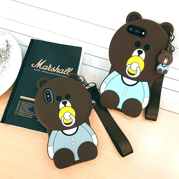 Kore New 3D Case For Samsung Galaxy S8 S9 S9 Plus 3D Nipple Bear Phone Back Cover Cute Cartoon Rubber Cover Funda Coque Brand