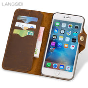 LANGSIDI Genuine Leather Phone Case Leather Retro Flip Phone Case For LeEco Pro3 Handmade Phone Case