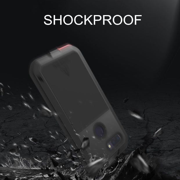 LOVEMEI Powerful Metal Waterproof Case For OPPO R15 Pro Armor ShockProof Full Body Back Cover Defender Phone Case For OPPO R15