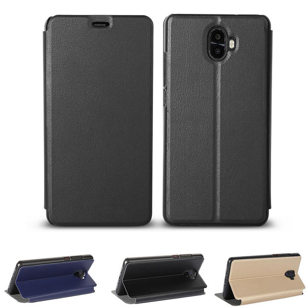 Leather Bracket Cover Scratch Resistance Phone Case Holder For Oukitel Gold, Blue, Black K8000