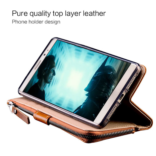 Leather Phone Case For Nokia 8 Hand-made Zipper Wallet Case For Nokia Lumia 930 630 5 6 8 7plus Brand Phone Cover Nokia Series