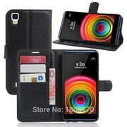 Litchi PU Wallet Leather Pouch Flip Case For LG X Power Stylo 3 MOTO Z Play G5 Plus Galaxy J2 2016 J7 2017 Stand Cover 50pcs