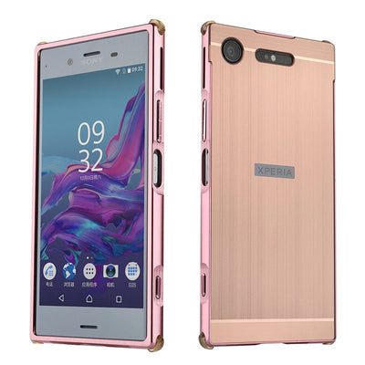Luxury Aluminum Metal Frame Bumper For Sony Xperia XZ1 Compact Mini Case PC Hard Back Cover For Sony Xperia XZ1 Mini Coque Funda