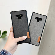 Luxury Cloth Case For Samsung Galaxy S8 S9 Plus Note8 Note9 Soft Shockproof TPU Cover Iphone Xs Max XR 7 8plus 6s Case