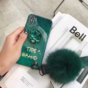 Luxury Jewelled Phone Case For Iphone X XR XS XS Max Soft Silicone Glossy Case For IPhone 7 8 6 6s Plus Case Cover