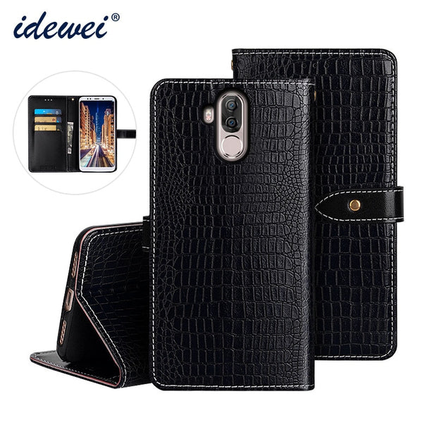 Luxury Leather Flip Case For Ulefone Power 3s Protective Case Crocodile Grain Back Cover For Ulefone Power 3 Case