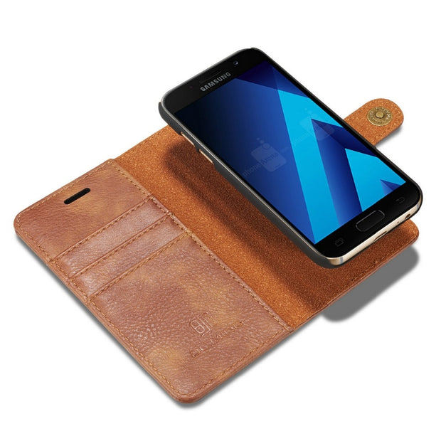 Luxury Man Case For Samsung Galaxy A320 A520 Cover PU Wallet 2 In 1 GalaxyA320 A520 Cover Magnetic Flip Book Holder Leather Case