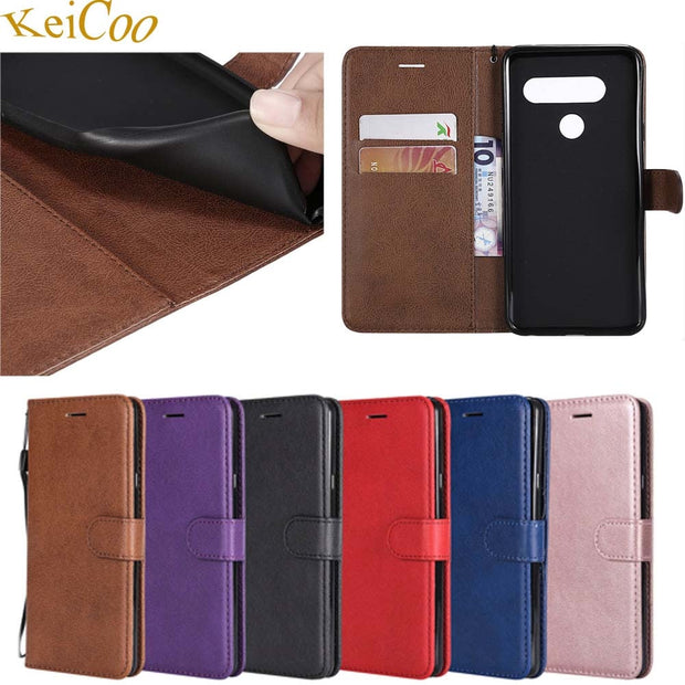 Luxury PU Leather Covers On For LG V40 ThinQ US Cases With Magnet Wallet Pouch Cover For LG V40ThinQ 64GB 128GB Book Flip Cases