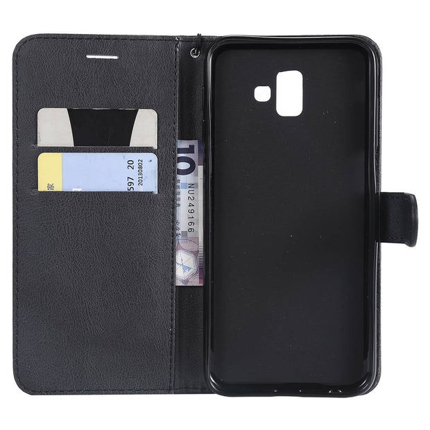 Luxury PU Leather Covers On For SAMSUNG Galaxy J6Plus 2018 Case Magnet Wallet Covers J6+ Plus 2018 SM-J610FN/DS Book Flip Cases