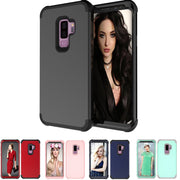 Luxury Shockproof Case For Samsung Galaxy S9 Plus Hard PC+Silicone Protective Cover Case For Samsung Galaxy S9 Phone Armor Cases