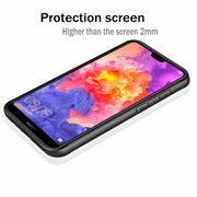 Luxury Shockproof Hybrid Soft Bumper Clear Hard PC Back Cover Case For Honor 8X Max