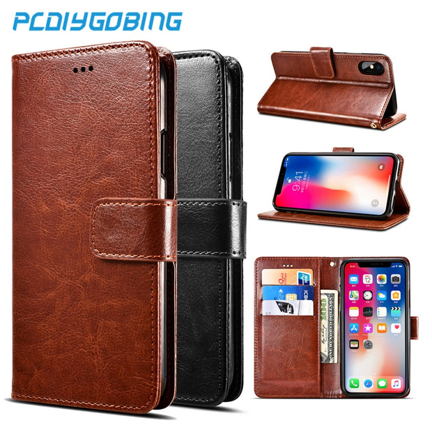 Luxury Retro Pu Leather Wallet Flip Cover Stand Case For Capa Para Lenovo A916 A2010 K6 K8 Note K5 Plus A6020 P780 Lenovo S5 Z5