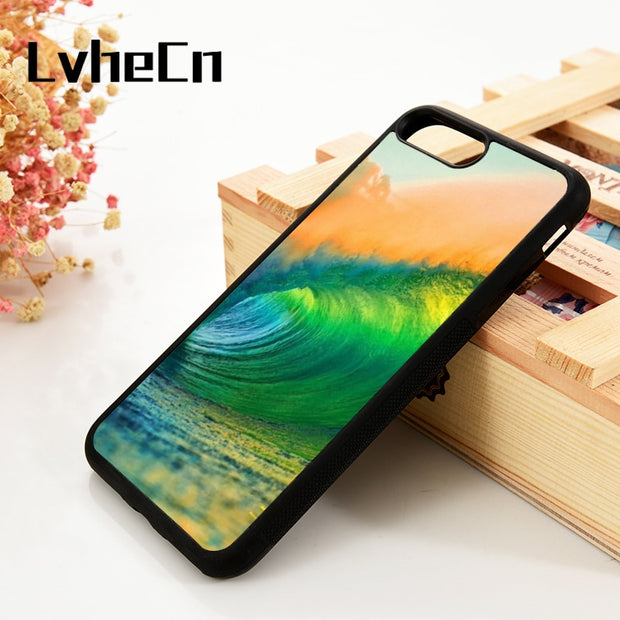 LvheCn 5 5S SE 6 6S Phone Cover Cases For IPhone 7 8 PLUS X Xs Max XR Soft Silicone Rubber Surfing Extreme Sports