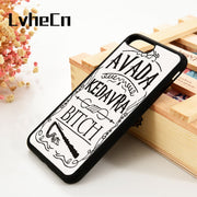 LvheCn 5 5S SE 6 6S Phone Cover Cases For IPhone 7 8 PLUS X Xs Max XR Soft Silicone Rubber Harry Potter Avada Kedavra BItch
