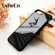 LvheCn 5 5S SE 6 6S Phone Cover Cases For IPhone 7 8 PLUS X Xs Max XR Soft Silicone Rubber Extreme Sports Skateboarding
