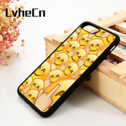 LvheCn 5 5S SE 6 6S Phone Cover Cases For IPhone 7 8 PLUS X Xs Max XR Soft Silicone Rubber Emoji Middle Finger Emojicon