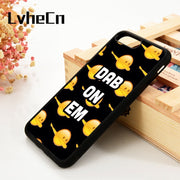 LvheCn 5 5S SE 6 6S Phone Cover Cases For IPhone 7 8 PLUS X Xs Max XR Soft Silicone Rubber Emoji Funny Dab Emojicon