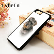 LvheCn 5 5S SE 6 6S Phone Cover Cases For IPhone 7 8 PLUS X Xs Max XR Soft Silicone Rubber Miniature Schnauzer Dog