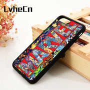 LvheCn 5 5S SE 6 6S Phone Cover Cases For IPhone 7 8 PLUS X Xs Max XR Soft Silicone Rubber MARVEL LOGO HEROES