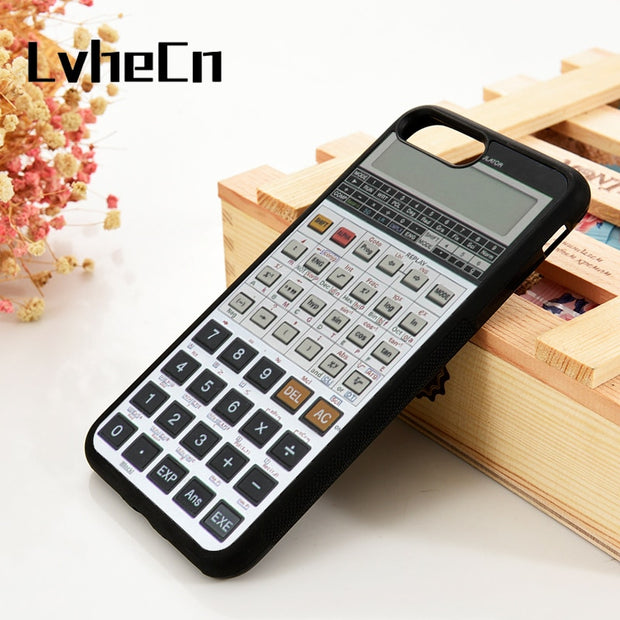 LvheCn 5 5S SE 6 6S Phone Cover Cases For IPhone 7 8 PLUS X Xs Max XR Soft Silicone Rubber Calculator Funny